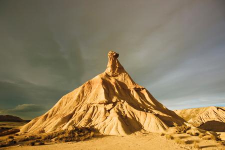 Castildetierra; earthen hill symbol of the nature reserve of the Bardenas of Navarra
