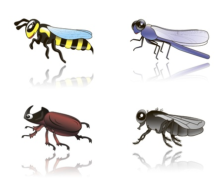 babyish: cute isolated illustration of funny babyish insects
