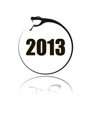 中国のヘビの兆候 2013年の黒いシルエット