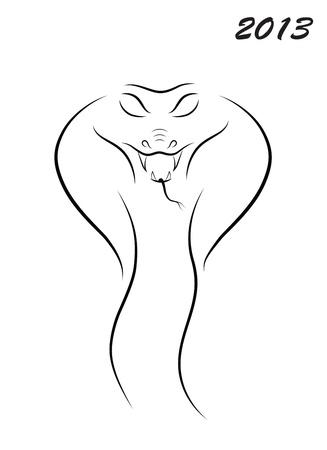 ベクトル蛇 2013  イラスト・ベクター素材