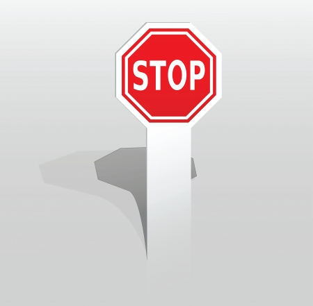 Vector illustration of paper sticker with stop sign Stock Vector - 17775016