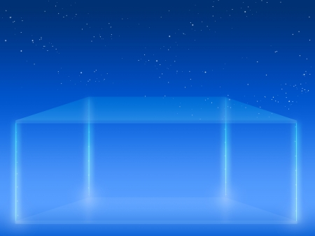 Abstract futuristic background with rectangular glass stage