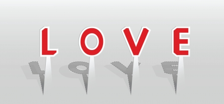 Vector illustration of love word  Contains transparency effect  Stock Vector - 18023135