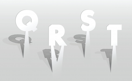 illustration of QRST letters Vector