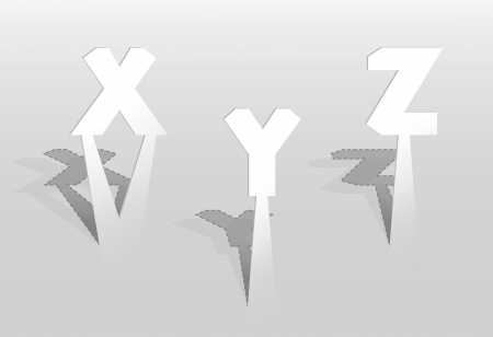 illustration of XYZ letters Vector