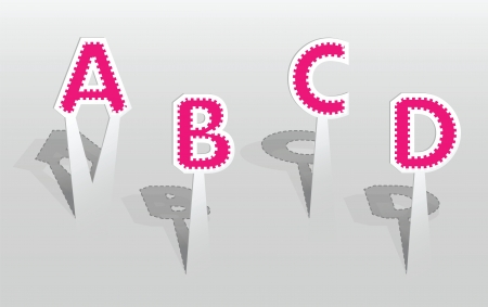 illustration of ABCD letters Vector
