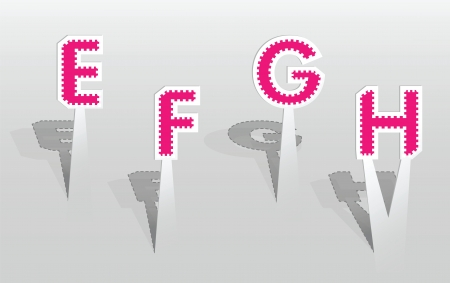 illustration of EFGH letters Vector