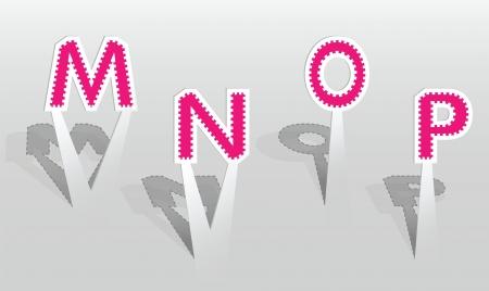 illustration of MNOP letters Illustration