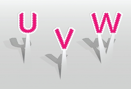 illustration of UVW letters Vector