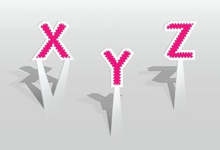 illustration of XYZ letters