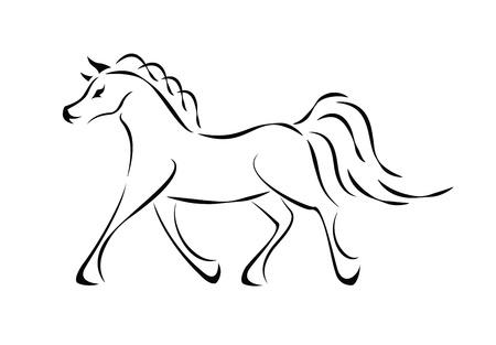 Vector horse sign  Stock Vector - 18156609