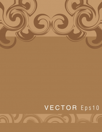 Swirly brown background Vector