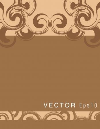 Swirly brown background Vector