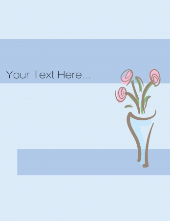 Illustration of greeting card with flowers Vector
