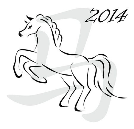 horse sign 2014 Stock Vector - 18257384