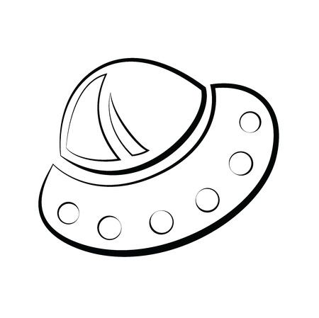 空飛ぶ円盤の抽象的な元素イラスト  イラスト・ベクター素材
