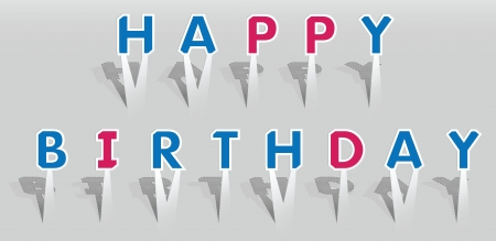 d i y: illustration of HAPPY BIRTHDAY words