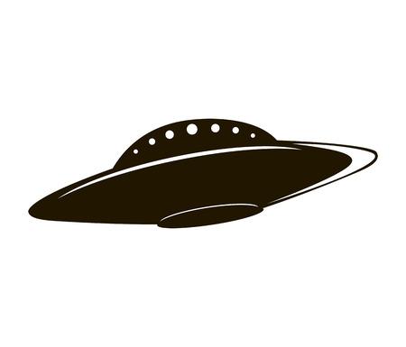 Abstract elemental vector illustration of flying saucer Illustration