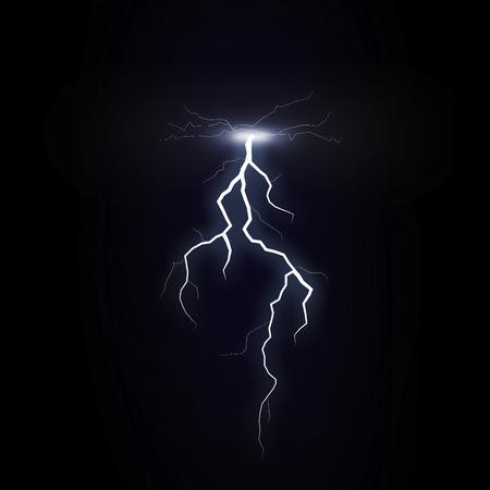 forked: Illustration of bolt of lightning