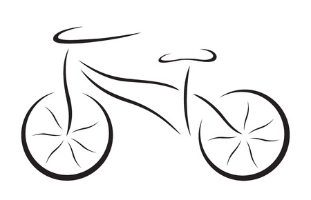 Illustration of vector black elemental bicycle