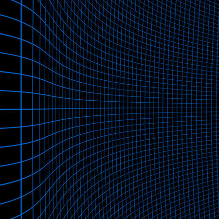 contortion: Illustration of background with blue curvy grid