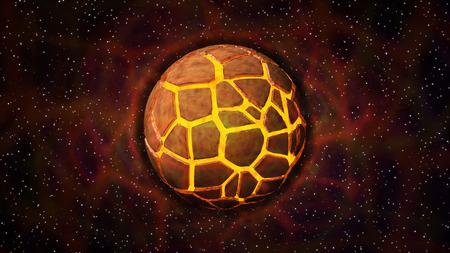 splinters: Explosion of mystery planet with splinters