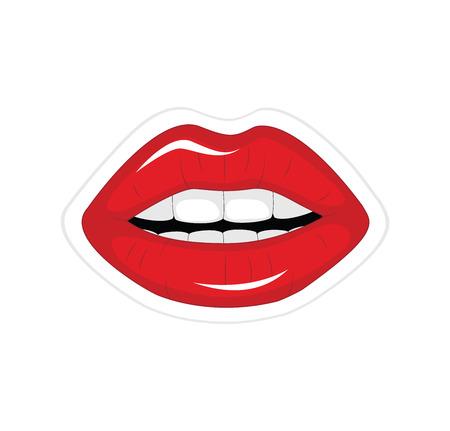 labios rojos: Ilustración del vector de los labios rojos