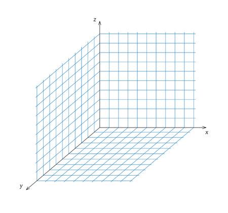 coordinate: Vector illustration of mathematics triaxial system of coordinate Illustration