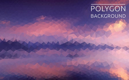 violette: Vector polygonal illustration of beautiful landscape