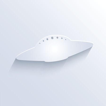 sloping: Vector illustration of ufo icon with shadow