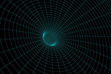 meshy: Illustration of the meshy wormhole model Stock Photo