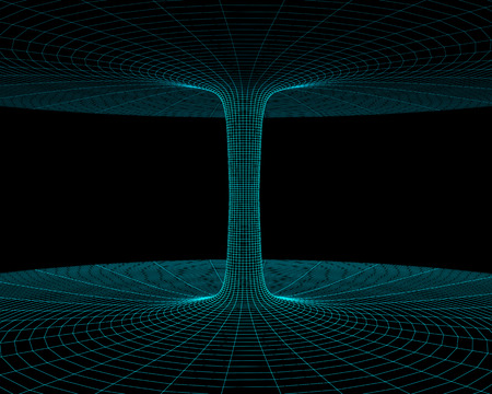 wormhole: Illustration of the meshy wormhole model Stock Photo