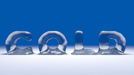 icy: Illustration of Icy word cold on the snow