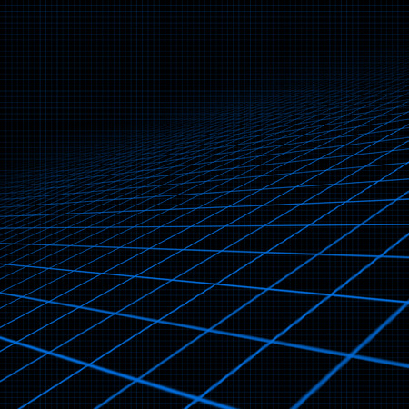 contortion: Illustration of background with blue inclined grid