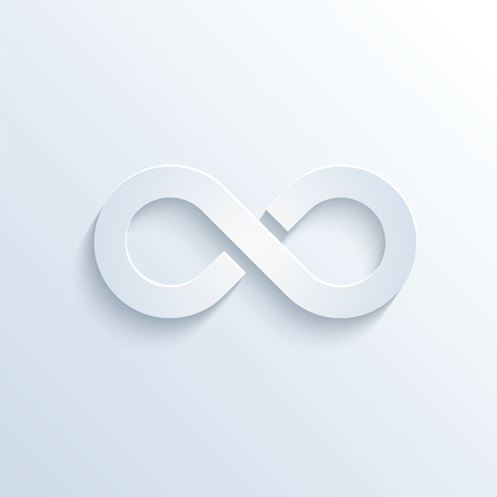 sloping: illustration of infinity sign with shadow Illustration