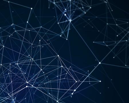 サイバネティック粒子と抽象的なデジタル背景 写真素材