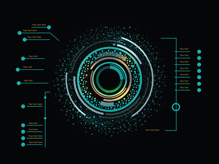Futuristic color infographics as head-up display
