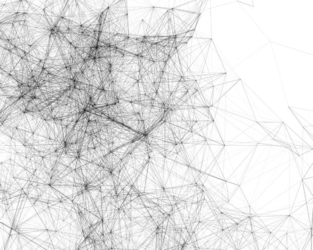 cybernetic: White abstract digital background with cybernetic particles