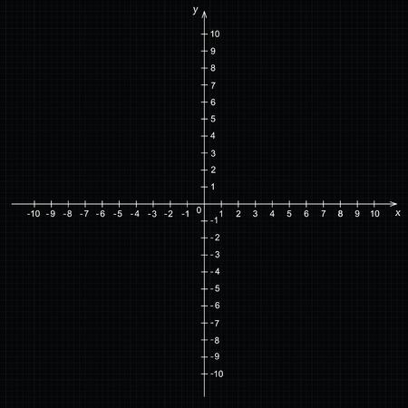 value system: Vector illustration of mathematics system of coordinate Illustration