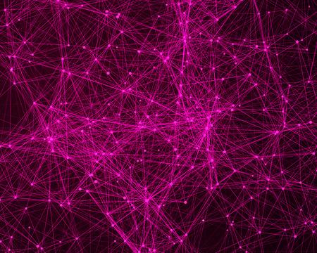ピンクのサイバネティック粒子デジタル抽象的な背景