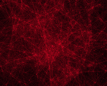 cybernetic: Abstract digital background with red cybernetic particles