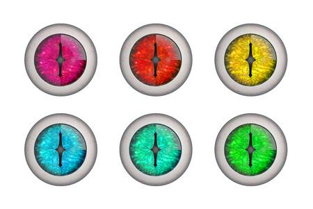 eyeballs: Set of 3d render dragon eyeballs