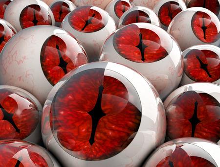 eyeballs: Illustration of 3d red eyeballs Stock Photo