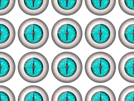 eyeballs: Seamless pattern of blue dragon eyeballs