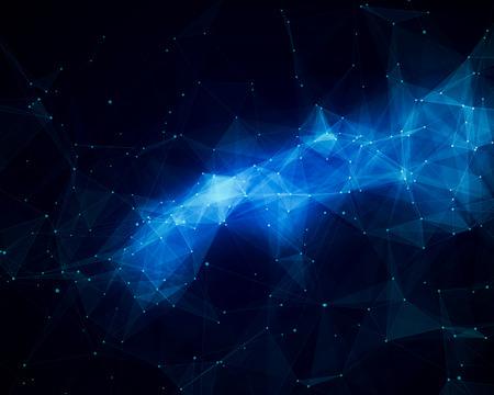 fondo geometrico: Ilustración de la vía láctea abstracta azul Foto de archivo