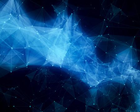 青の抽象的な星雲のイラスト