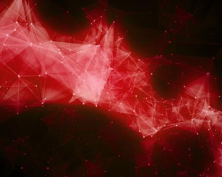 nebula: Illustration of red abstract nebula Stock Photo