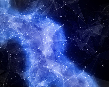 icy: Illustration of abstract icy nebula in space Stock Photo