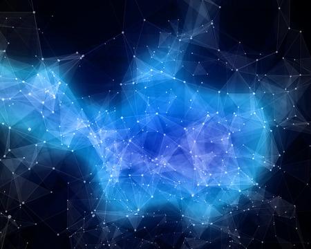 スペースで抽象的な星雲のイラスト