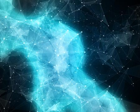 コスモスで抽象的な氷のような星雲のイラスト 写真素材